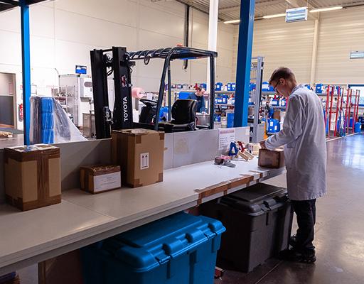 Préparation expédition produits Fabster